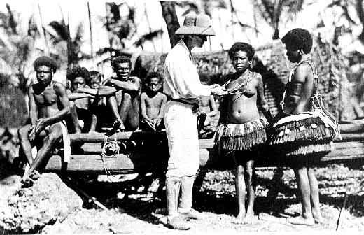 Malinowski among the Trobiand Islanders circa 1918
